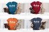 Winter Tshirt Mockup Bundle Bella Canvas 3001 3005 3501 3719 example image 4