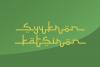 Selamet Lebaran // Arabic Fauxlang Font example image 5