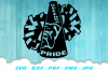 Bulldog Cheer Megaphone Poms SVG DXF Cut Files example image 1