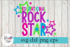 Educational Rock Star Teacher SVG Cutting Files example image 1