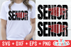 Grunge Senior  Graduation Cut File example image 1