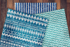 Patterned Blue Glitter Digital Paper example image 2