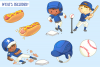 Kids Playing Baseball Clip Art Collection example image 2