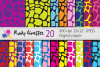 Bright giraffe digital papers / giraffe pattern backgrounds example image 1