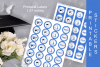 Blue Printable Labels Grade Party 2019 - size 1.67 inches example image 3