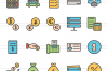 60 Banking Linear Multicolor Icons example image 2