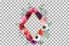 Watercolor elegant floral borders, rose, anemone frames example image 19