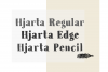 Hjarta - A Pencil Drawn Font Trio example image 2