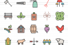 100 Farm & Gardening Filled Line Icons example image 2