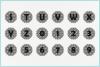 Mandala Alphabet Svg, Mandala Letter Svg, Zentangle Alphabet example image 3