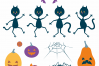 Halloween dance. Funny witches and black cats. example image 5