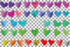 Watercolor little hearts clip art, colorful Valentine example image 22