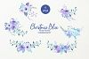Watercolor Clip Art Christmas Blue example image 3