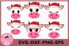 Cow SVG, Farm svg, Cow Christmas svg, Christmas svg, Calf example image 1