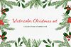 Christmas watercolor collection. Hand drawn illustrations. example image 1
