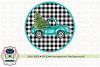 Vintage Truck with Christmas Tree Sublimation Printable example image 1