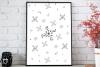 Floral Doodle Ink Pattern, A1, SVG example image 3