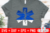 Distressed Star of Life EMS | SVG Cut File example image 1