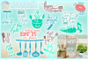 Fun Kitchen Quote Bundle SVG Dxf Eps Png PDF files example image 1
