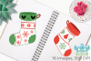 Christmas Stockings Clipart, Instant Download Vector Art example image 3