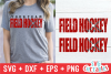 Field Hockey Distressed | SVG Cut File example image 1