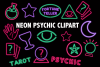Neon Psychic Clipart example image 1