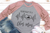 Cheer Mom - Heartbeat Of A Cheer Mom SVG example image 2