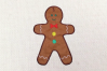 Gingerbread Boy and Girl Applique Embroidery Design Set example image 3