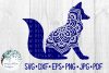 Fox Mandala | Animal Mandala SVG Cut File example image 2