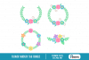 flower svg, flower svg file, wreath svg, wreath svg file example image 1