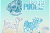 Puggle Mandala Zentangle Bundle SVG Eps Png PDF example image 3