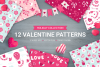 12 Valentine Seamless Patterns example image 1