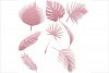 Tropical Leaves Silhouettes Clipart example image 2