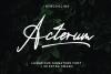 Acterum Signature Font - 26 Extra Swash example image 1