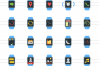 50 Smart Watch Flat Multicolor Icons example image 2