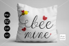 Bee Mine Valentine SVG File example image 1