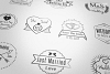 Wedding Stamp Vector Badges Logos example image 2