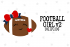 Football Girl SVG File, V2 example image 1