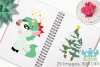 Christmas Unicorns 2 Clipart, Instant Download Vector Art example image 3