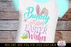 Bunny Kisses and Easter Wishes Embroidery Applique Design example image 1