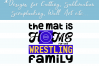Mat is Home for Wrestling Family - A Wrestling SVG example image 4