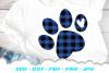 Christmas Buffalo Plaid Dog Paw SVG DXF Cut Files example image 2