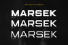 (NEW) Marsek - A Solid Display Font example image 2
