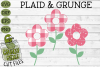 Plaid & Grunge Flower SVG Cut File example image 1