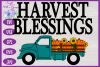 Harvest Blessings SVG | Pumpkin Truck SVG | Farm Truck SVG example image 3