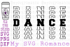 Dance - Word Mirror SVG PNG DXF example image 1