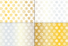 Seamless Silver & Gold Holiday Patterns example image 2