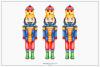 Watercolour Nutcracker - Sublimation PNG Clipart example image 1