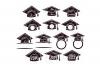 Graduation SVG Monogram Hat Cap in SVG, DXF, PNG, EPS, JPEG example image 2