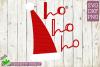 Santa Claus Ho Ho Ho Hat Christmas SVG File example image 2